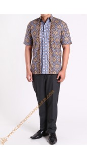 Kemeja Katun Motif Ranch Stock