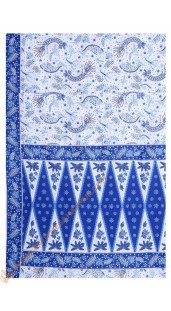 Sarung Tumpal Motif Udang Warna Biru