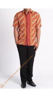 Kemeja katun batik