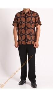 Kemeja katun batik motif kawung