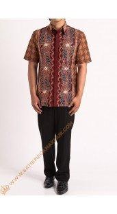 Kemeja katun batik motif ranch stock