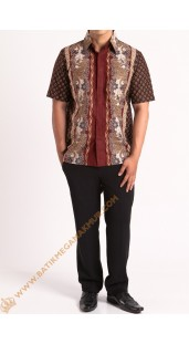 Kemeja katun batik motif naga
