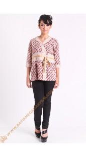 Blus katun model kimono