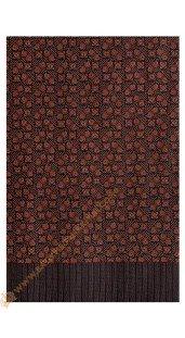 Motif Kembang Kotak Warna Coklat