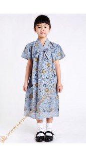 Dres Anak Model Pita 1 Dada Warna Biru