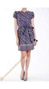 Dres Batik Katun Model Balon Warna Ungu