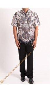 Kemeja katun batik motif pola