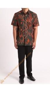Kemeja katun batik motif maduraan