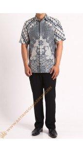 Kemeja katun batik motif polaan