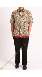 Kemeja katun batik motif burung