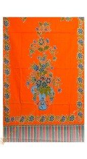 Gendongan Bayi Bahan Katun Motif Pot Bunga Orange